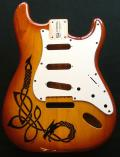 Ash Strat - custom Celtic dragon pyrography Image