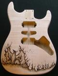 Ash/Flame Dinky body - custom phoenix pyrography Image