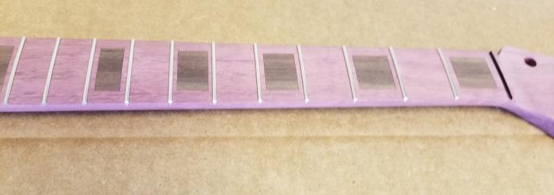 Purpleheart U2/Strat Neck with Rosewood Inlay Image