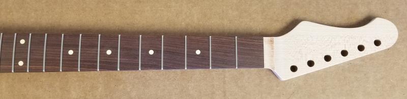Maple/Rosewood Reverse R6 Guitar Neck Image