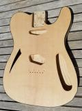 Spruce top Bound Tele Thinline Guitar Body Image