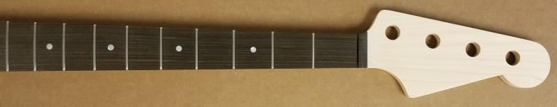 Custom Headstock Maple/Macassar Bass Guitar Neck Image