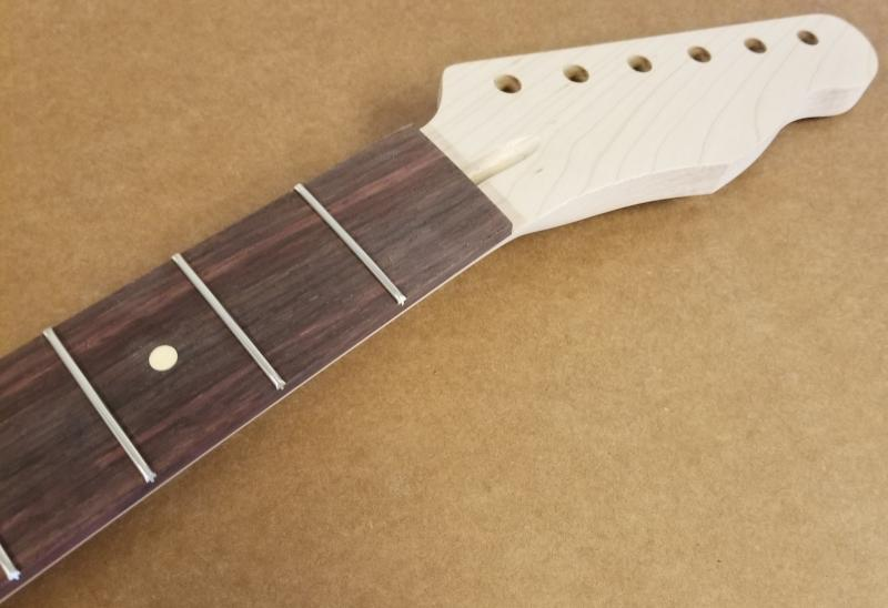 Maple/Rosewood U1 Tele Tiltback Guitar Neck Image