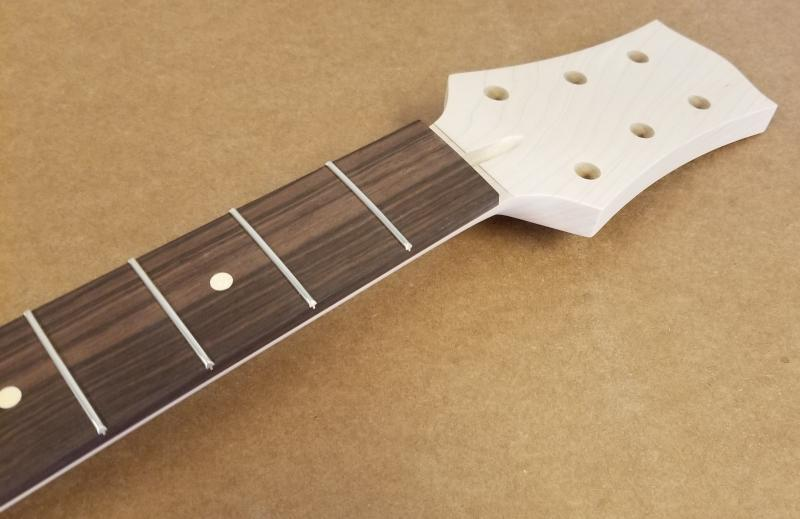 Maple/Rosewood Custom 3X3 Tiltback Guitar Neck Image