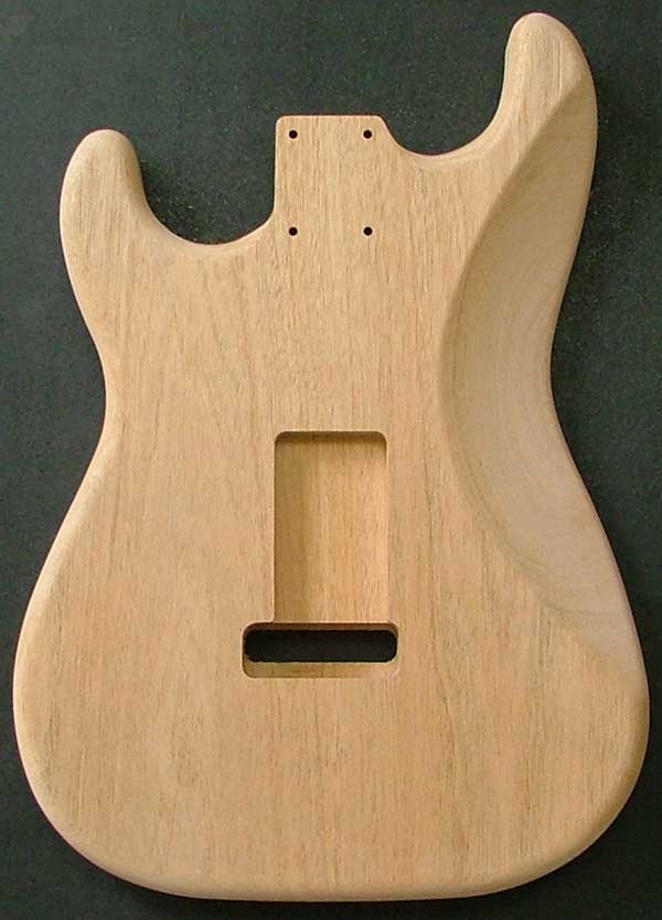 Stratocaster® Mahogany Electric Guitar Body Dimensions