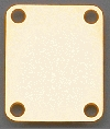 Neck Plate, 4 Hole, for Guitar or Bass